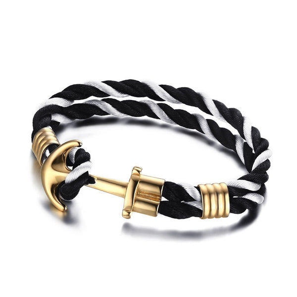 Twisted Stainless Steel Anchor Cuff