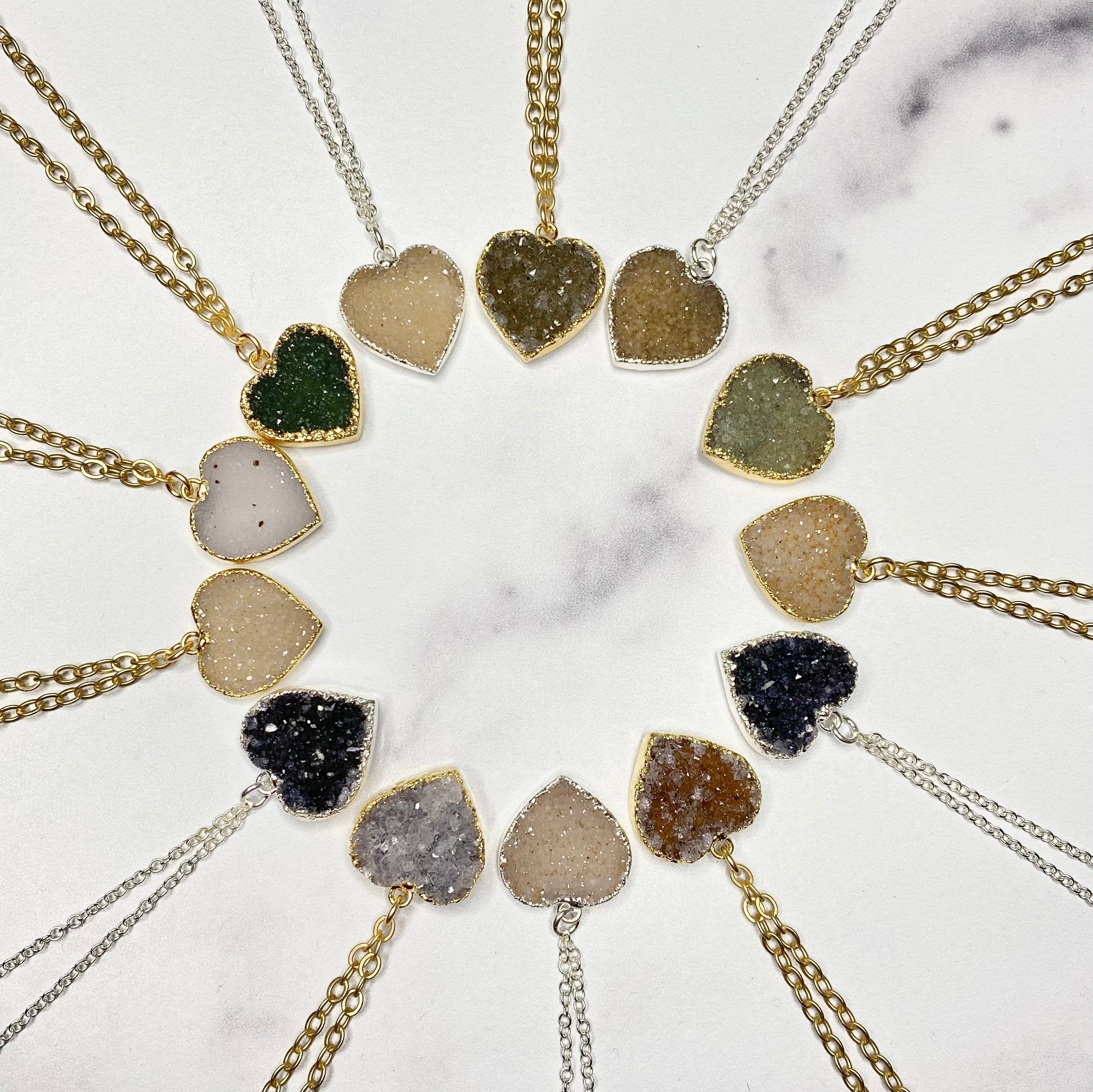 SMALL DRUZY PENDANTS