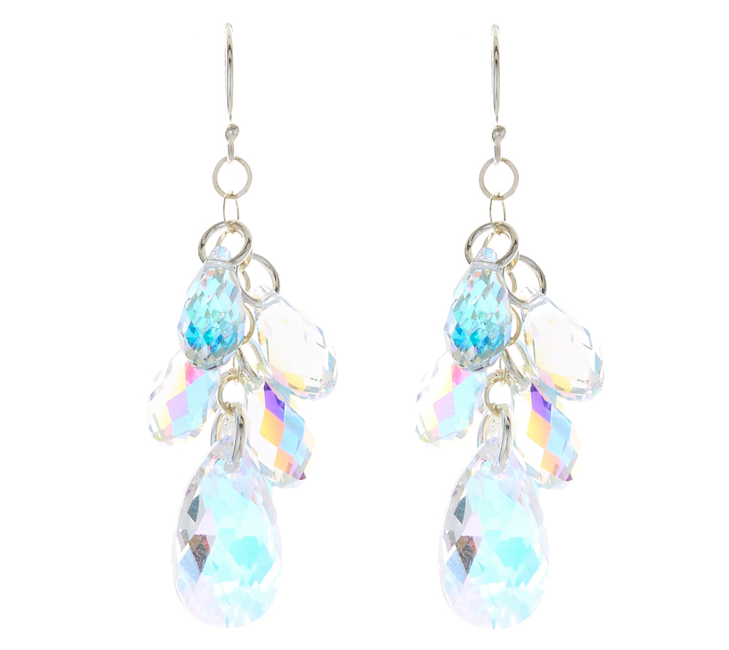 Crystal Pear Multi-Drop Earrings NEW