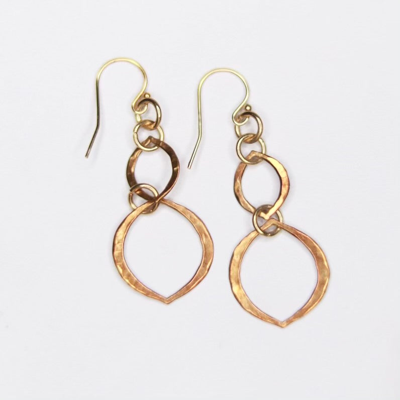 Multi-Marquis Link Earrings in Gold Filled or Sterling Silver  NEW