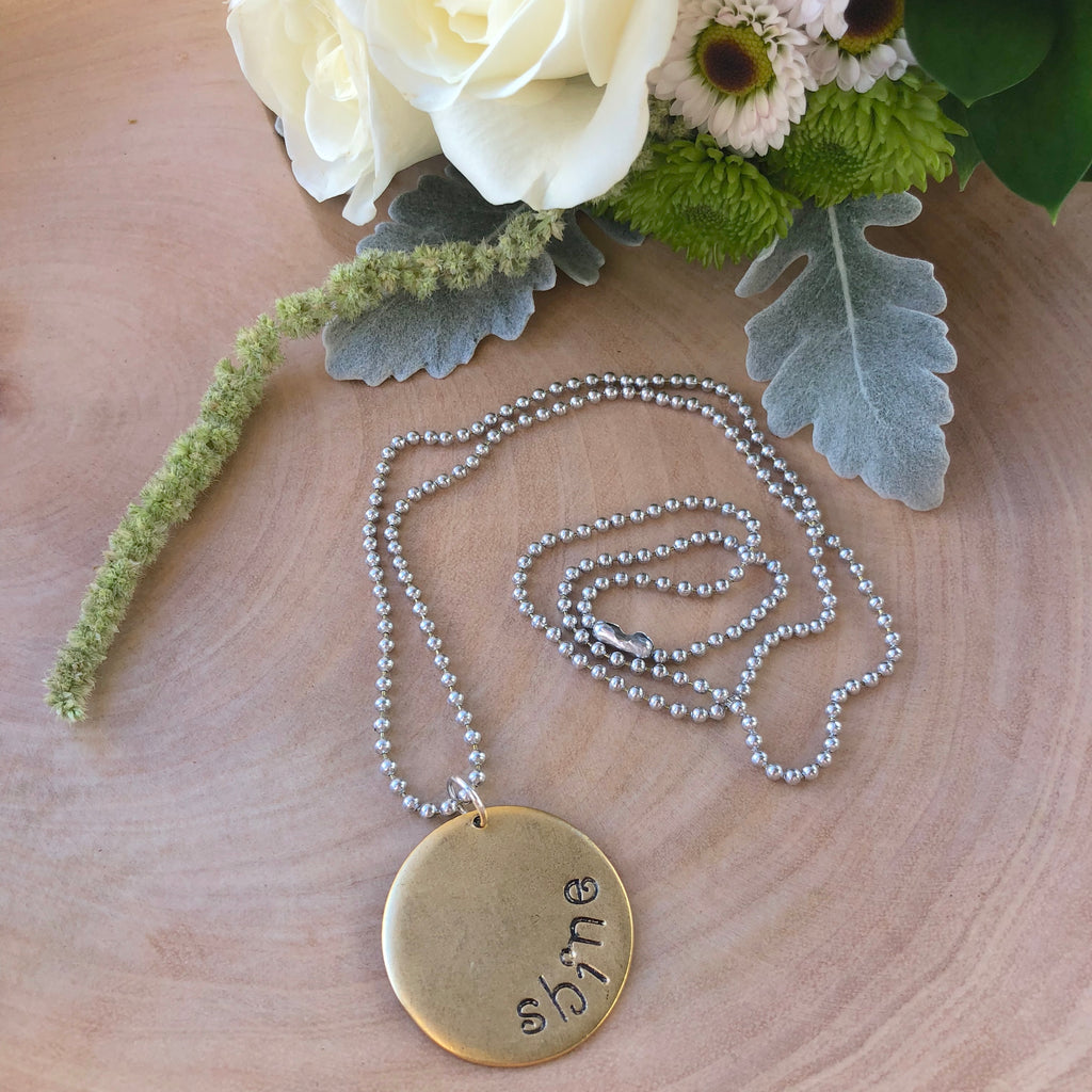 Round Inspirational Charm Necklace NEW