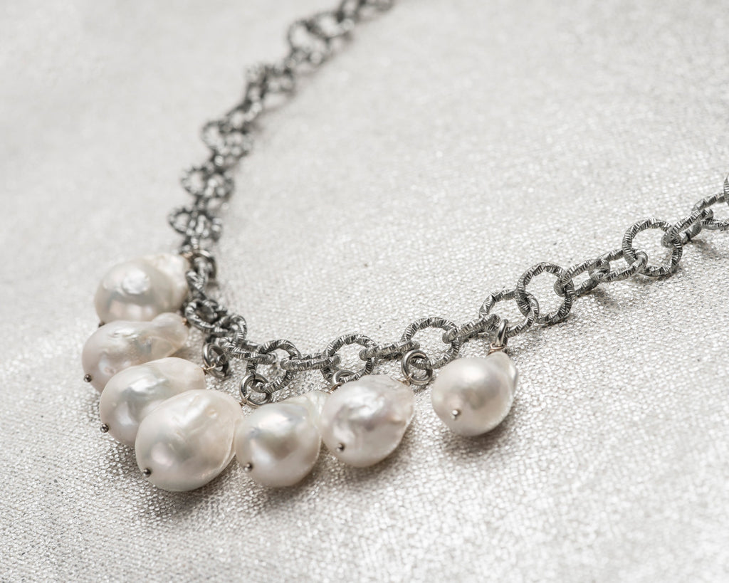 Life Bejeweled Multi-Drop Baroque Pearl Chunky Necklace