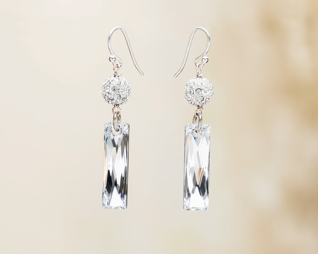 Crystal Baguette Earrings NEW
