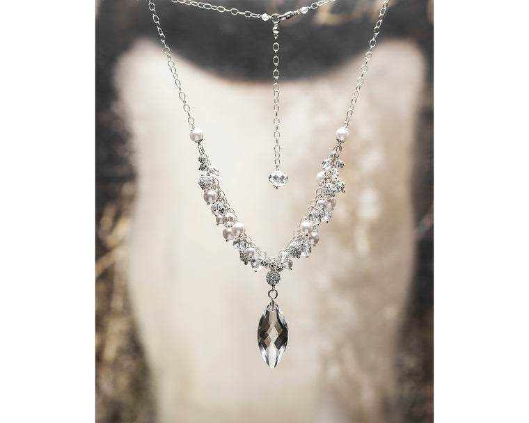 Signature Wedding Crystal Drop Necklace - OLD