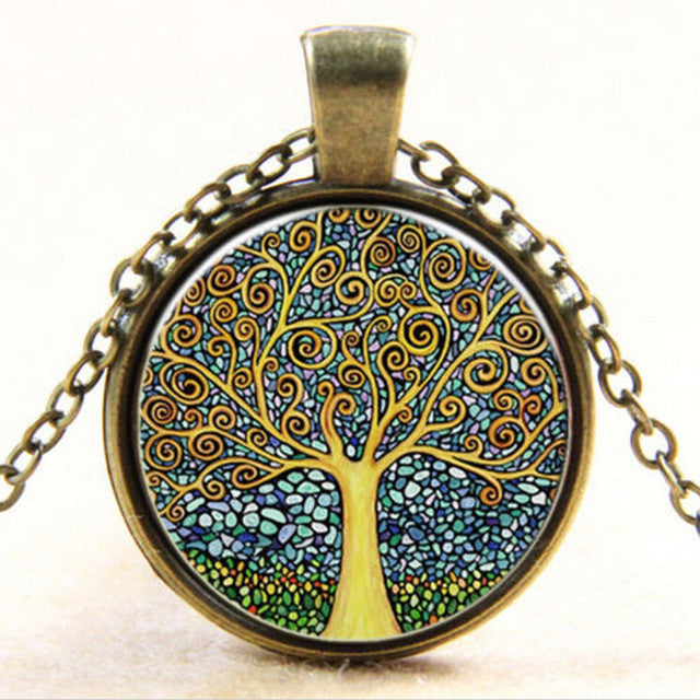 Vintage Tree of Life  Necklace - ecares