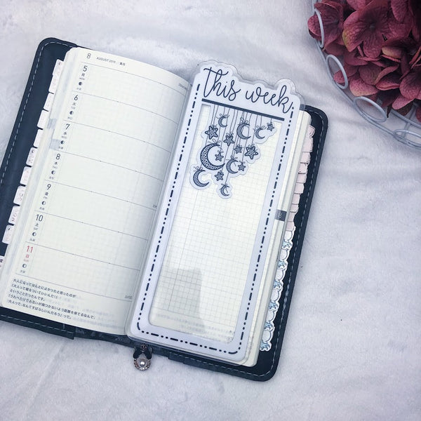 Hobonichi Weeks This Week Star Dangle Dashed Lined Tab - Ready to Ship
