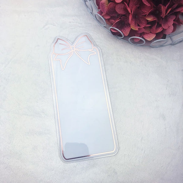B6 TN Rose Gold Center Bow Tab - Ready to Ship