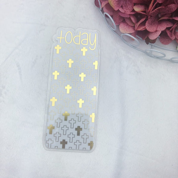 Pocket TN Gold Crosses Today Tab - Ready to Ship