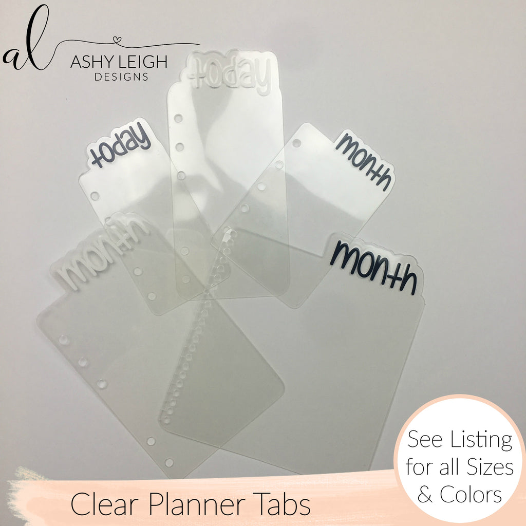 MTO Weeks All Clear Planner Tabs