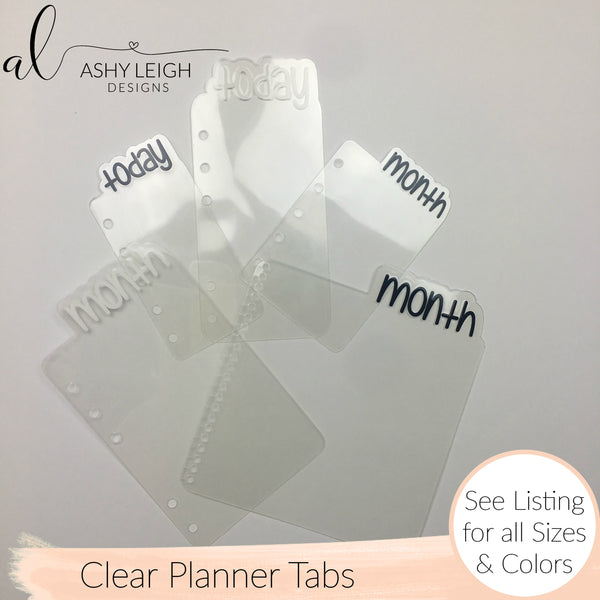 MTO Skinny Discs Happy Planner All Clear Planner Tabs