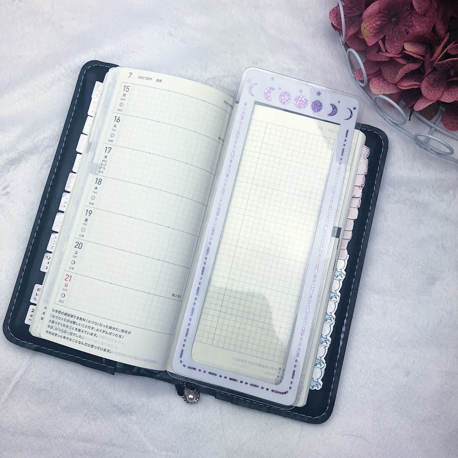 MTO Twin Wire Bound Moon Phase Planner Tabs