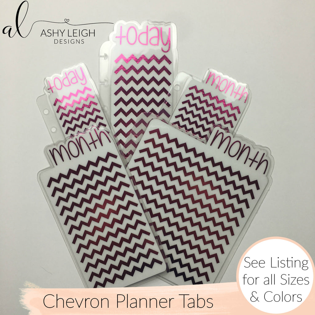 MTO Personal Wide Rings Chevron Planner Tabs