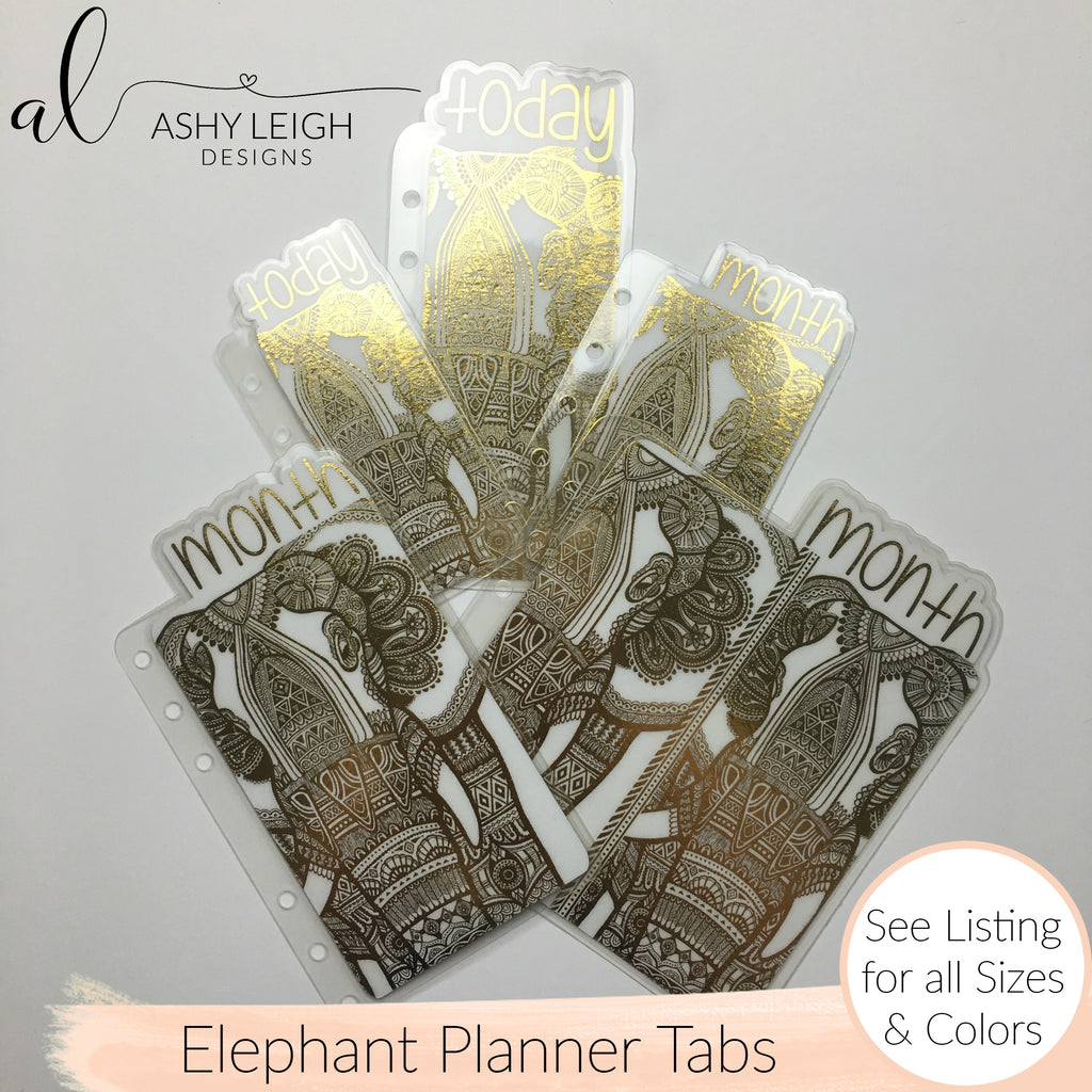 MTO A5 Wide Rings Elephant Planner Tabs