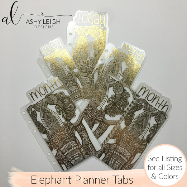 MTO A5 Rings Elephant Planner Tabs