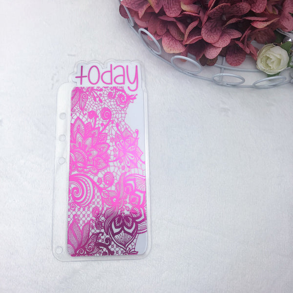 A5 Rings Hot Pink Lace Today Tab - Ready to Ship