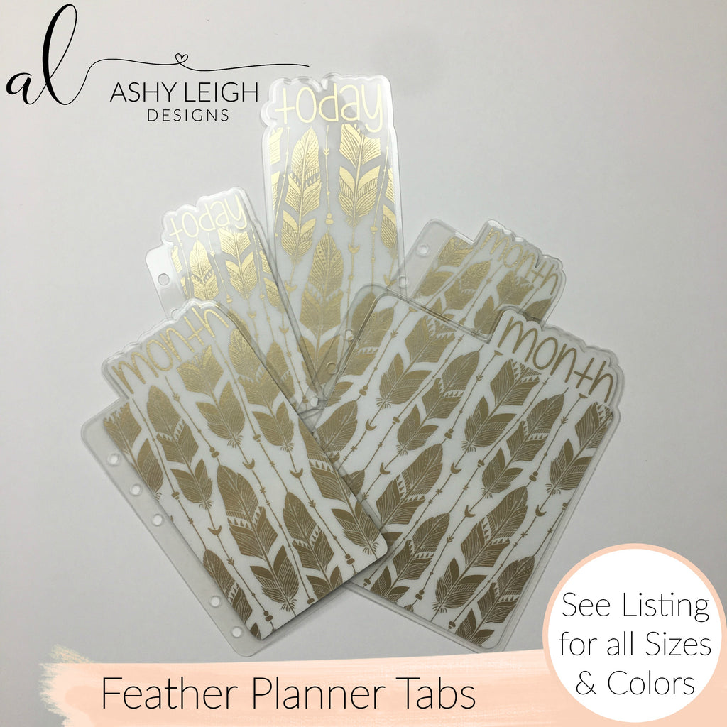 MTO A6 TN Feathers Planner Tabs