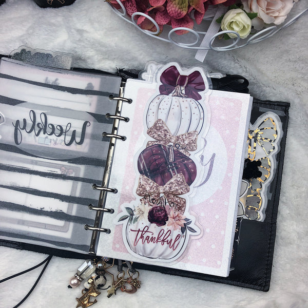 MTO Personal Wide Rings Thankful Planner Tab