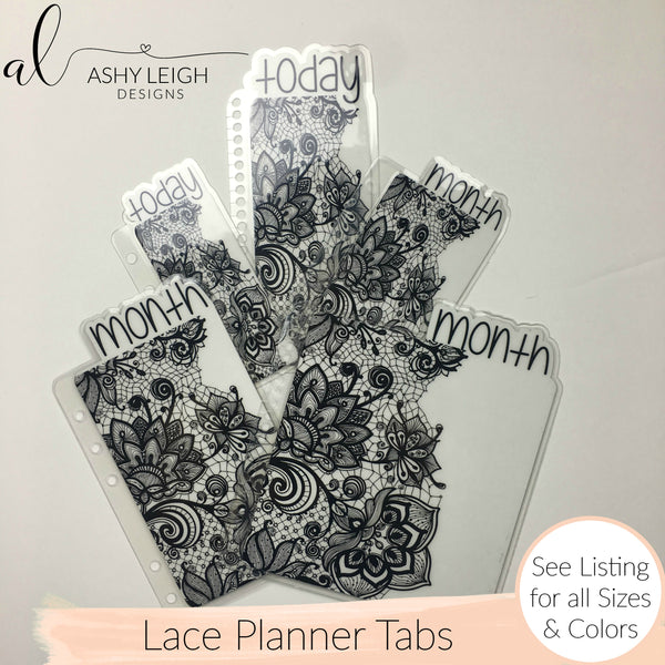 MTO Personal Wide Rings Lace Planner Tabs