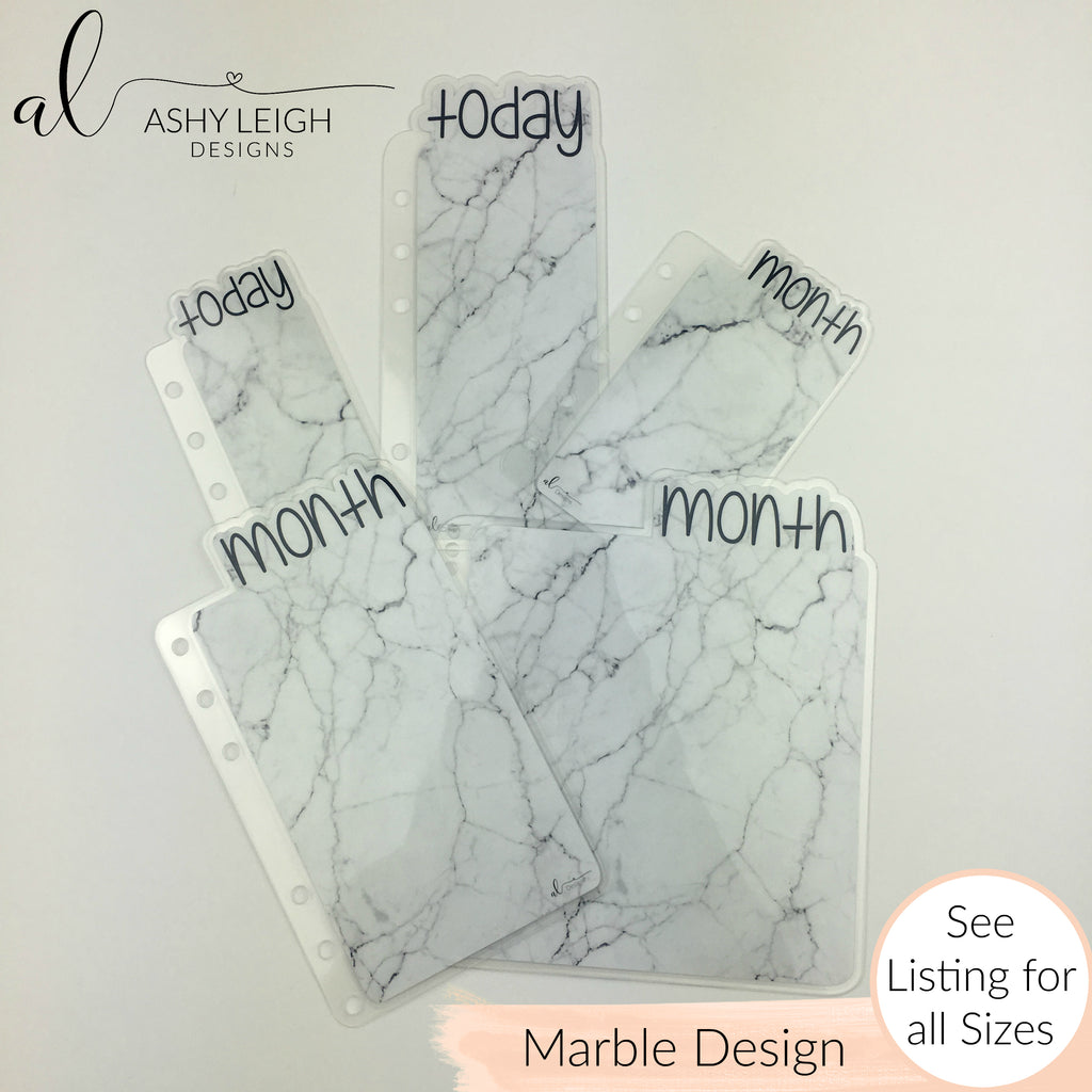 MTO Skinny Discs  Marble Planner Tabs