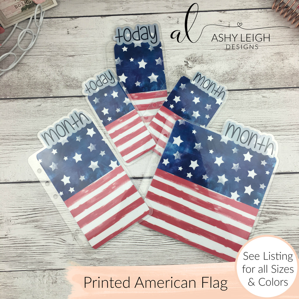 MTO Happy Planner Mini American Flag Planner Tabs