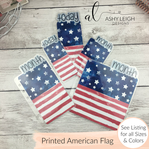 MTO A6 Rings American Flag Planner Tabs