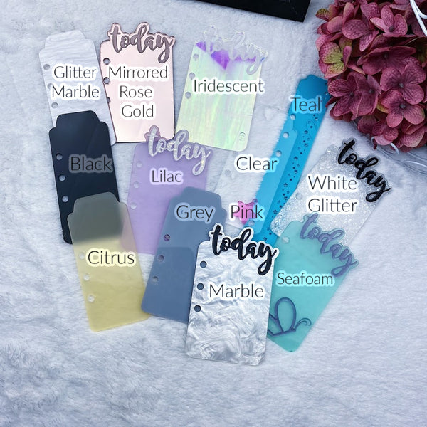 PRE-ORDER Blank Acrylic Top Tab - 13 Acrylic Colors to Choose From!