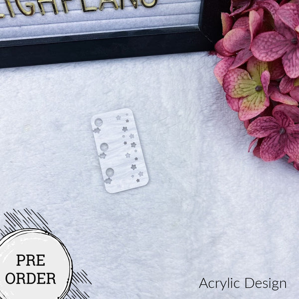 PRE-ORDER Tiny Stars Planner Tail Holder - 13 Acrylic Colors to Choose From!