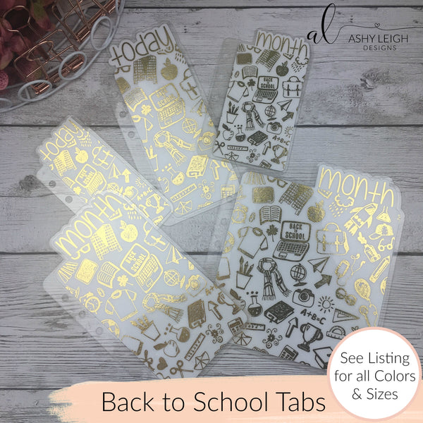 MTO A5 Wide Rings Back to School Planner Tabs