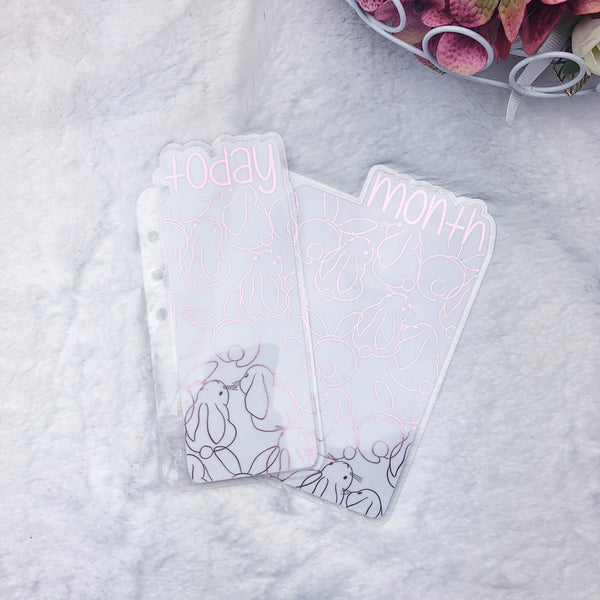 MTO Twin Wire Bound Press Bunnies Planner Tabs