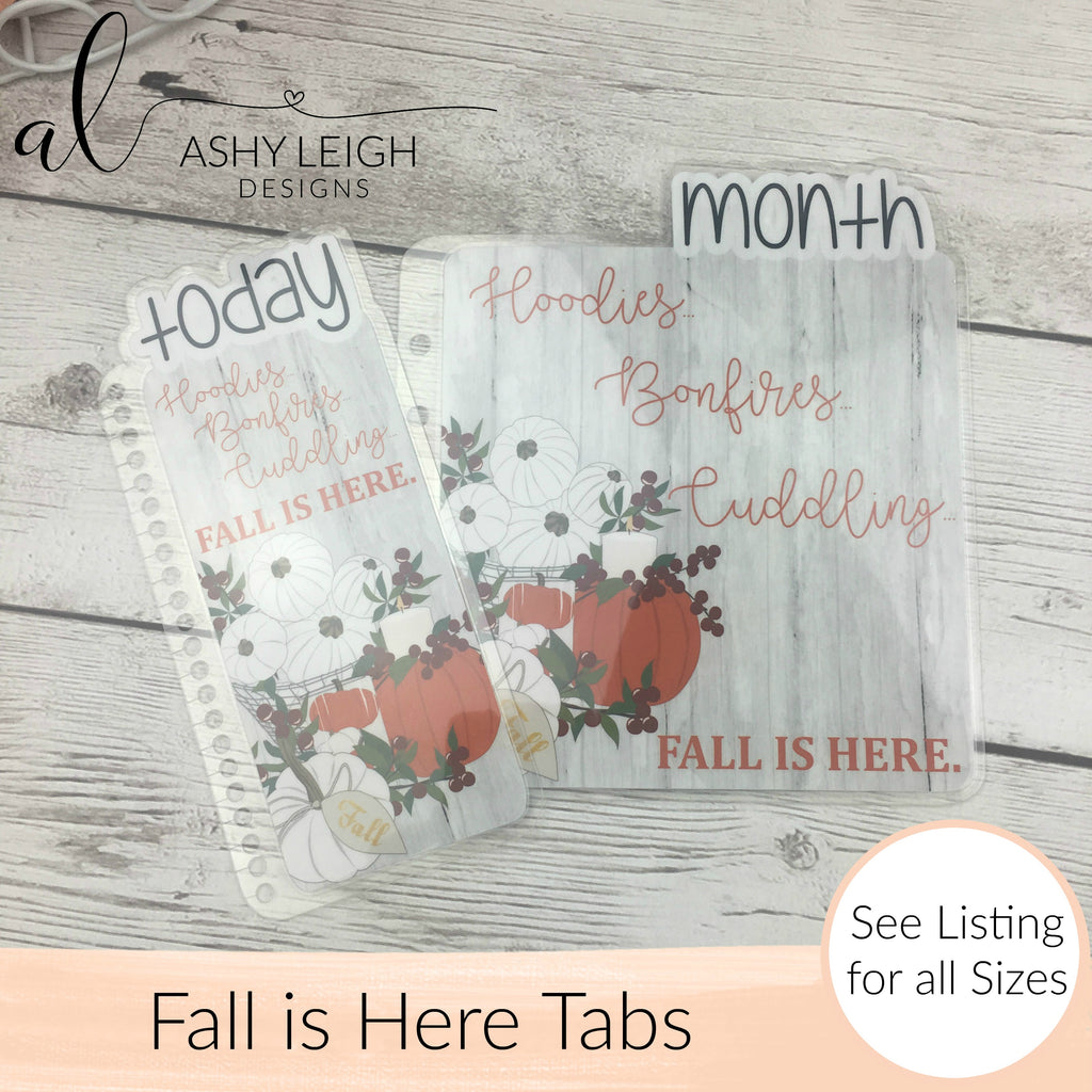 MTO Spiral Bound Fall is Here Planner Tabs