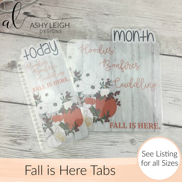 MTO Half Letter Discs Fall is Here Planner Tabs