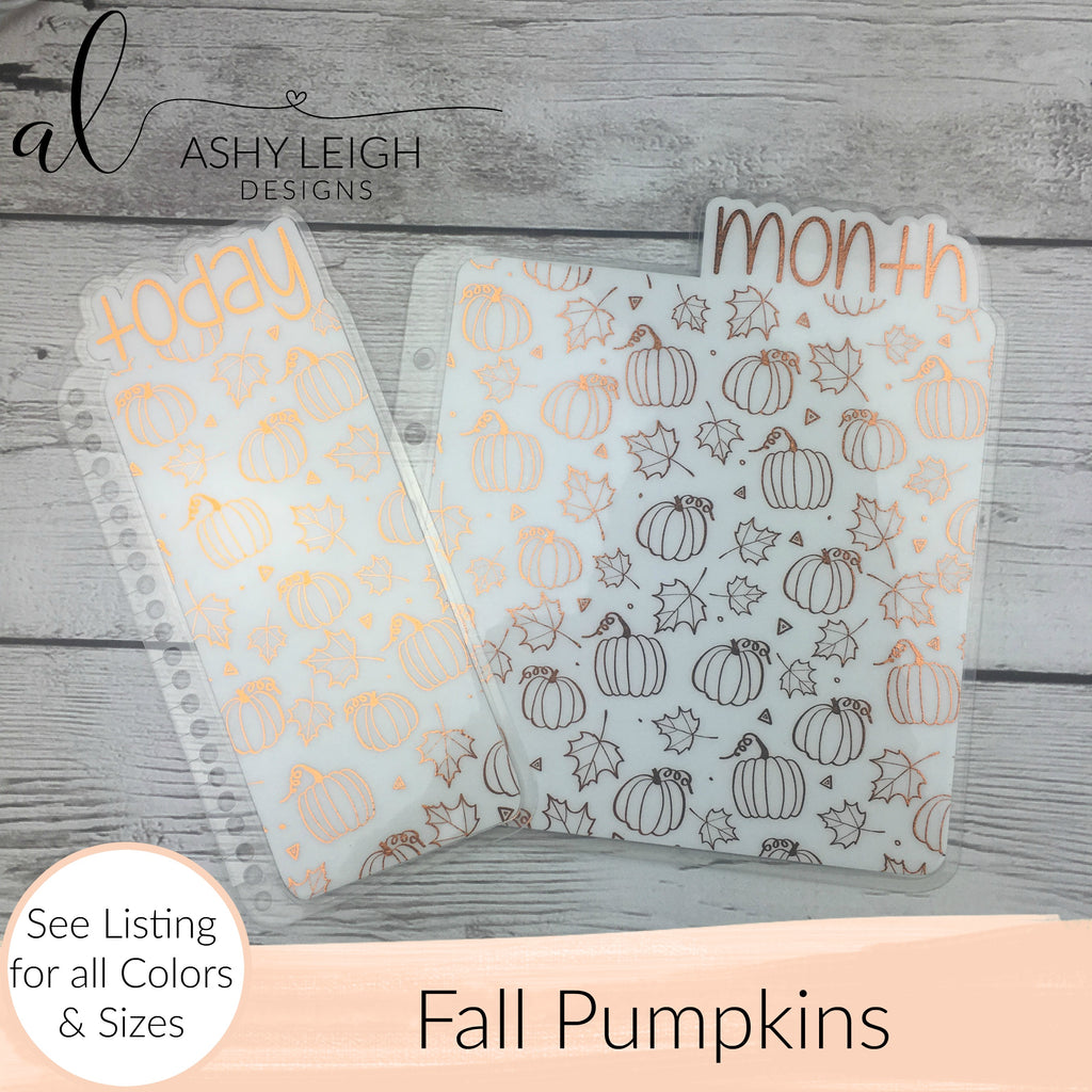 MTO Personal Rings Fall Pumpkins Planner Tabs