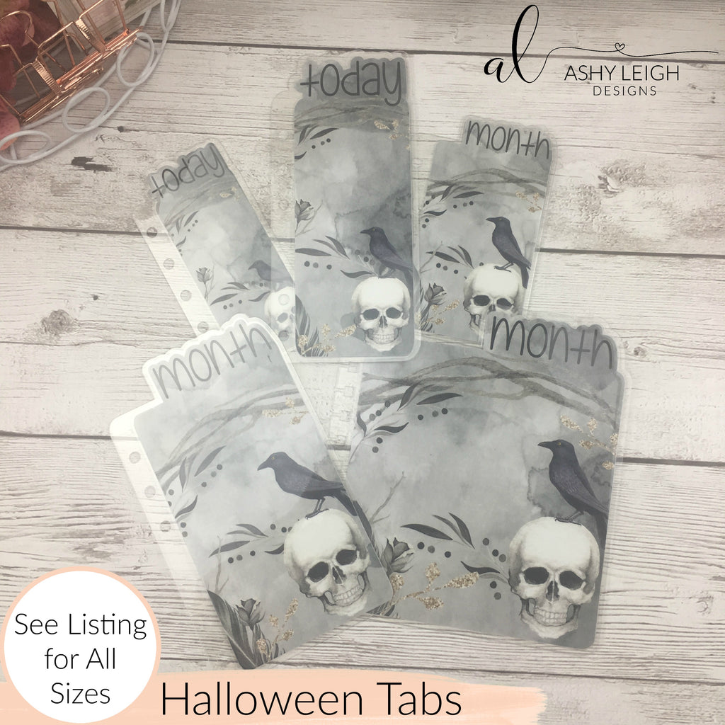 MTO A6 Rings Halloween Planner Tabs