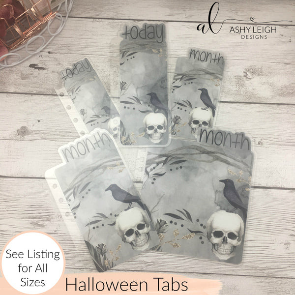 MTO Happy Planner Mini Halloween Planner Tabs
