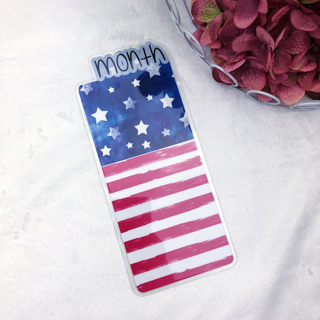 B6 TN Printed American Flag Month Tab - Ready to Ship