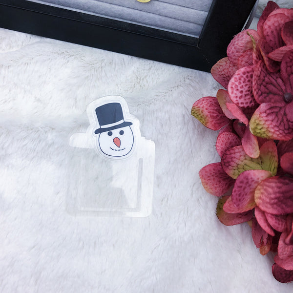 Snowman Planner Clip - Ready to Ship
