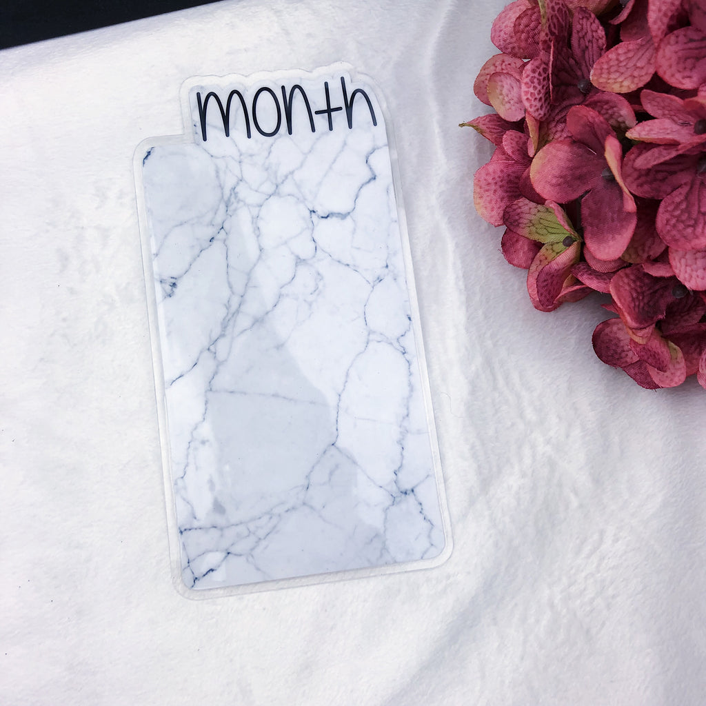 A6 TN Marble Month Tab - Ready to Ship