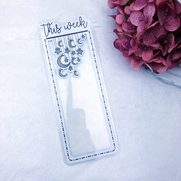 Standard TN This Week Dashed Lined Star Dangle Planner Tab - Ready to Ship