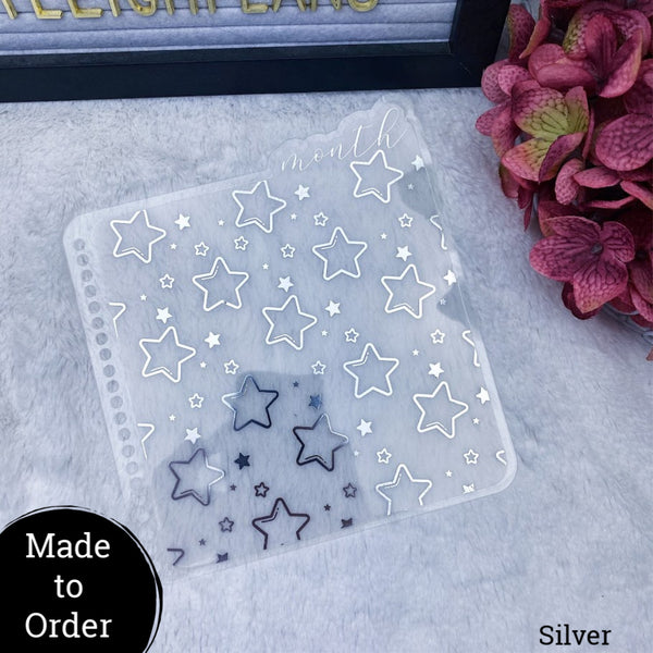 MTO Spiral Bound Acetate Star Patterned  Planner Tabs