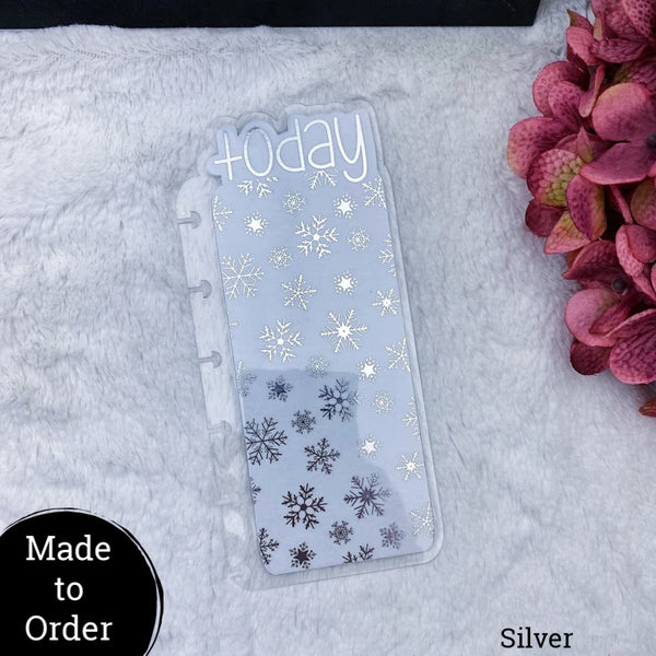 MTO Happy Planner Mini Snow Flakes Planner Tabs