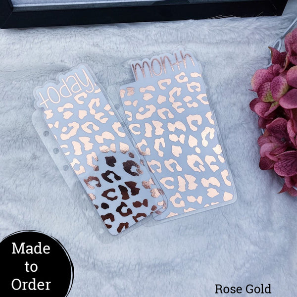 MTO Personal Rings Leopard Print Planner Tabs