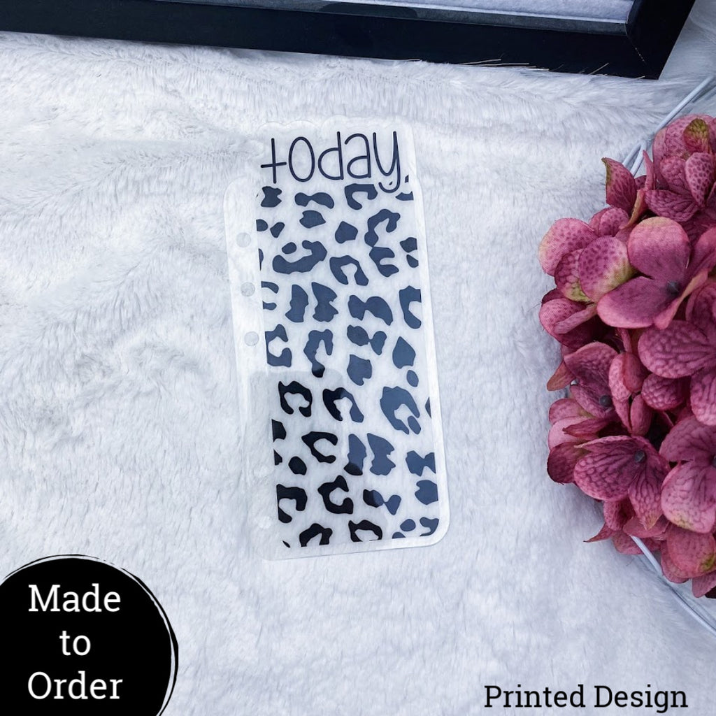 MTO Personal Wide Rings Vellum Leopard Planner Tabs
