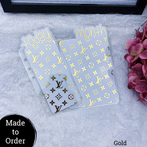 MTO B6 Rings Vuitton Planner Tabs