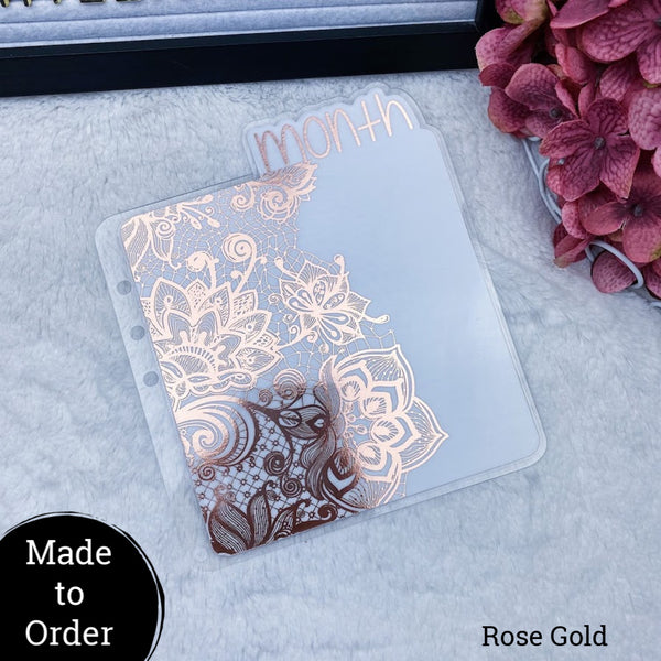 MTO A5 Rings Lace Planner Tabs