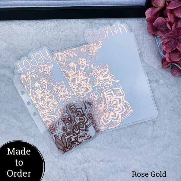 MTO A5 Wide Rings Lace Planner Tabs