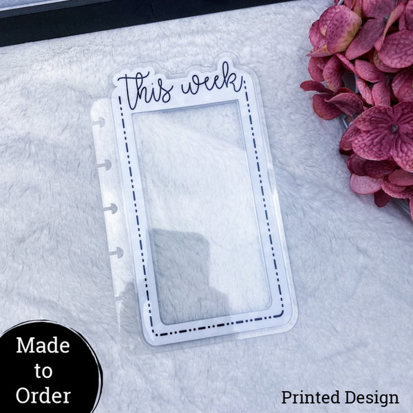 MTO Happy Planner Custom Dashed Die Cut Planner Tabs