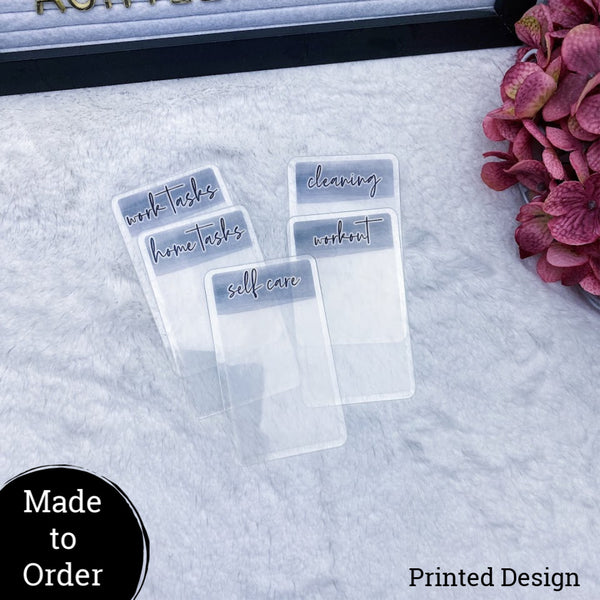 MTO Custom Planner Cards Set of 5
