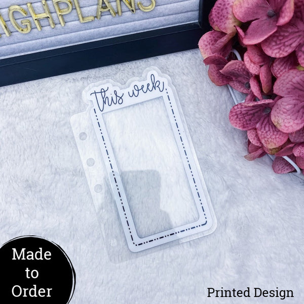 MTO Pocket Rings Custom Dashed Die Cut Planner Tabs
