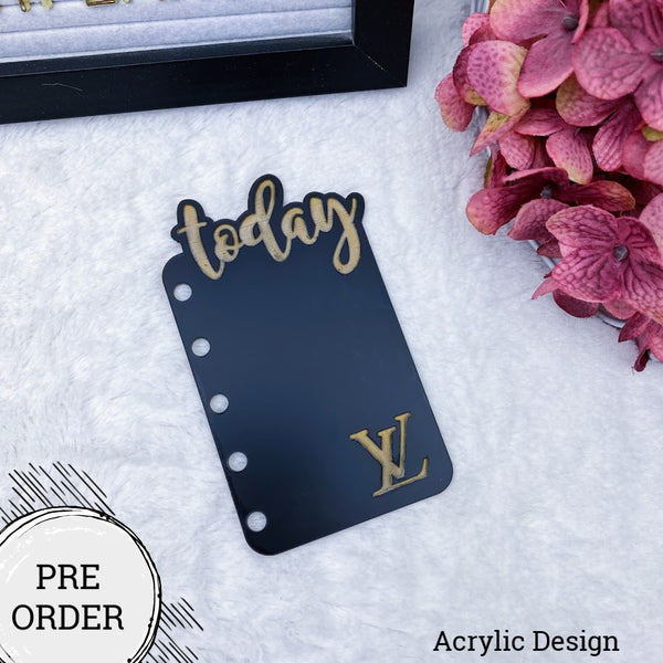 PRE-ORDER Black & Gold LV Acrylic Today Tab