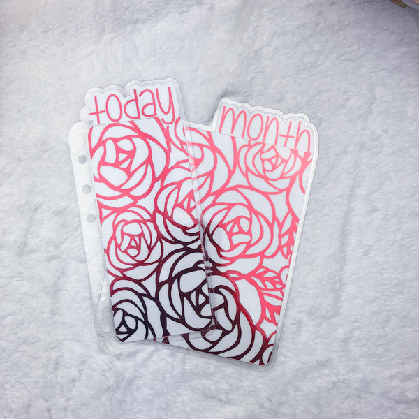 MTO A6 TN Roses Planner Tabs